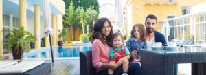 Header - Personal Insurance Family by the Pool